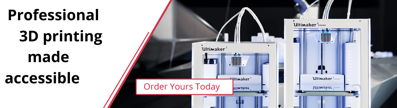 Ultimaker 3D Printers, Accessories and Materials from Millennitek